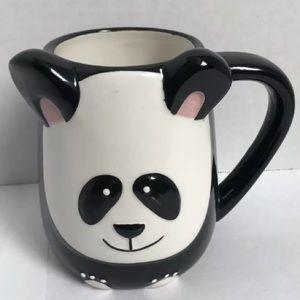 TAG Coffee Mug large panda bear black and white
